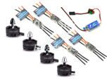 2204 2300KV Brushless Motor+4X EMAX Nano Series 12A Brushless ESC for QAV250 TL250H TL280C Robocat 270 280 Quadcopter