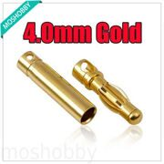 4.0MM Gold Bullet Connector Battery ESC Plug for rc helicopter car boat