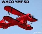 Dynam WACO YMF-5D 1.27M  PNP (Red/Yellow)