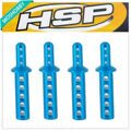 HSP 188037 Aluminum Alloy Body Post Mounts 4PCS For 1/10th RC Car 08047B Upgrade Parts