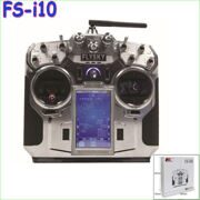 "FlySky FS-i10 2.4G 10Ch Transmitter & Receiver with 3.55"" TFT screen"