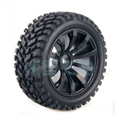 HSP Rubber Tyre Wheel For 1/10 Flat run - 2 Pair