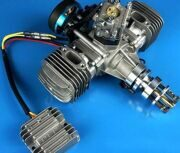 DLE60CC TWIN UAV ENGINE With 14V 80W Power Generator System